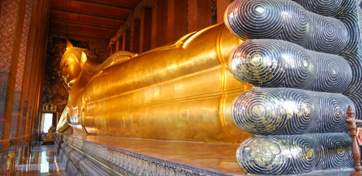 Damnern Sadauk Floating Market, The Grand Palace and Emerald Buddha, Wat Pho Reclining Buddha